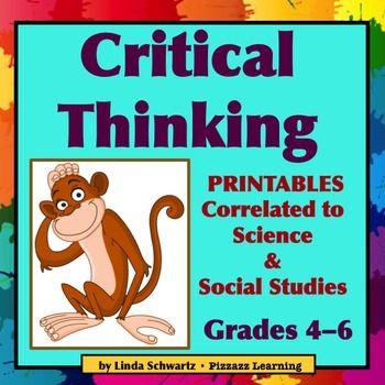 CRITICAL THINKING Printables Grade 5 | Pinterest | Critical thinking ...