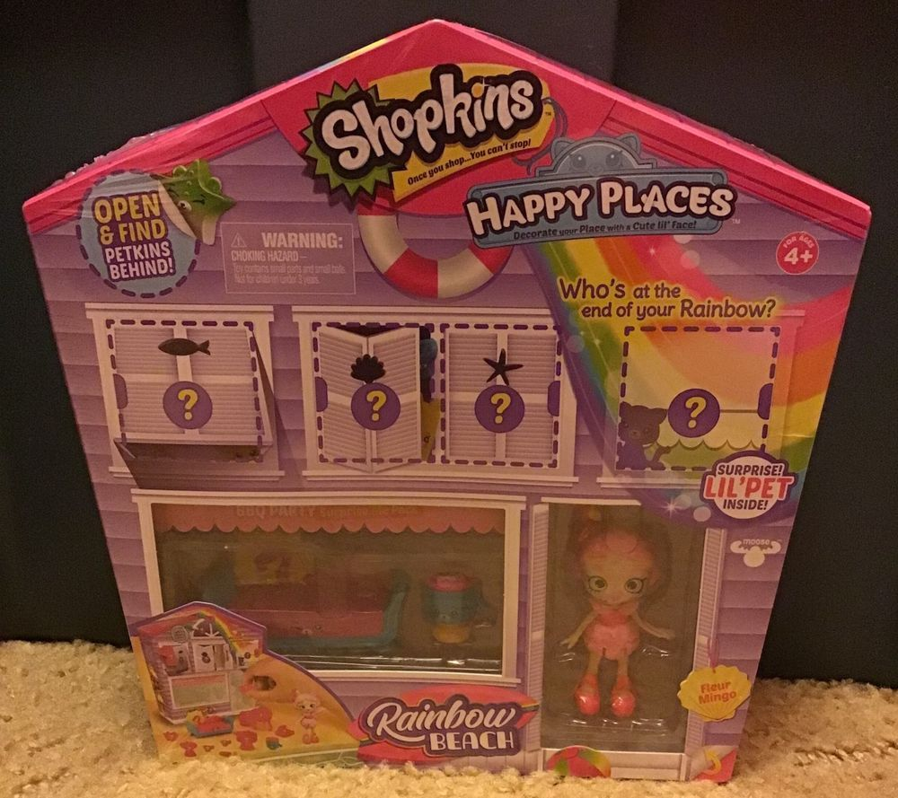 New Shopkins Happy Places Rainbow Beach BBQ Party Furniture Fleur Mingo