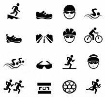 Black Triathlon Icons