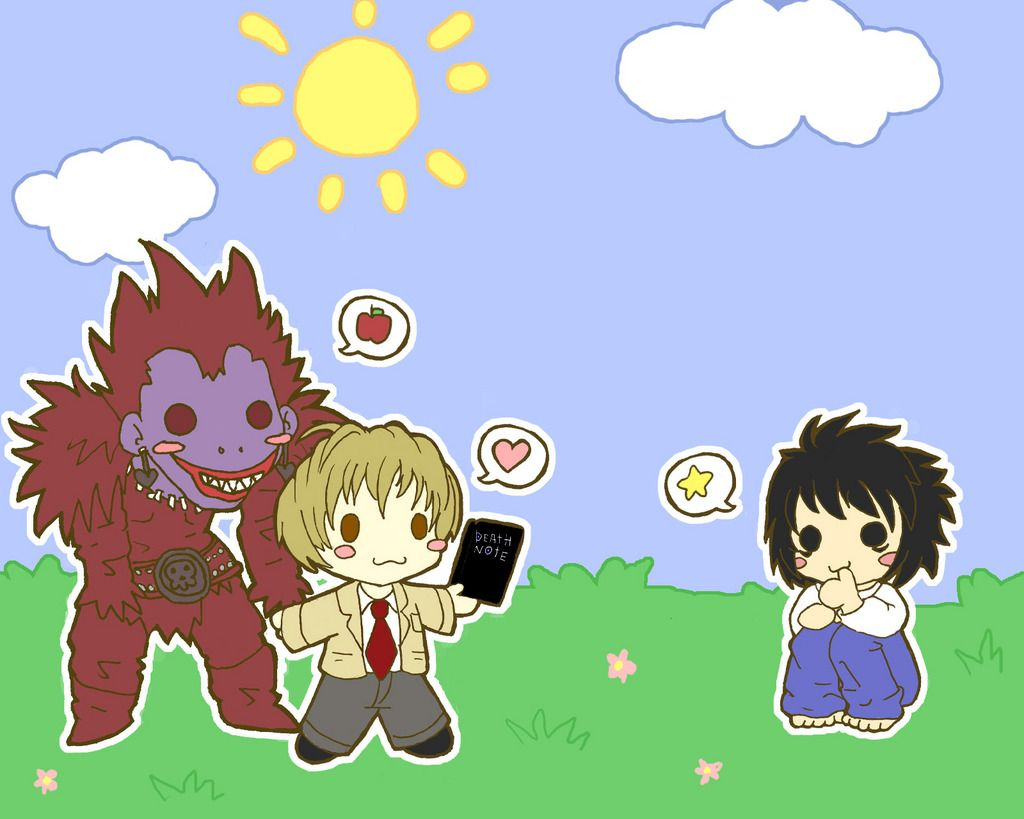 Chibi DeathNote Character illustration, Fantasy