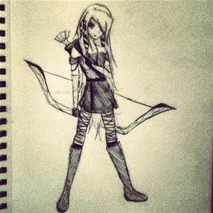 Drawings Of Girls With Bow And Arrows Bing Images Scary