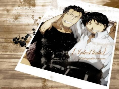 Maes Hughes & Roy Mustang   The wallpaper on my Mac... This pics  says so much to me cause I love these two the most and their relationship