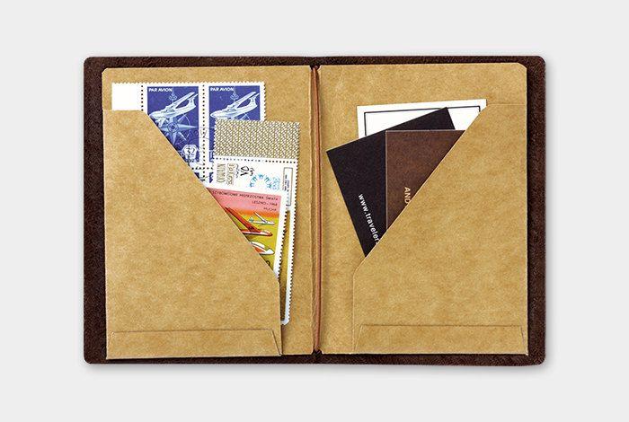 Midori TN Passport Size Kraft Paper Folder 010 by niconecozakkaya on Etsy
