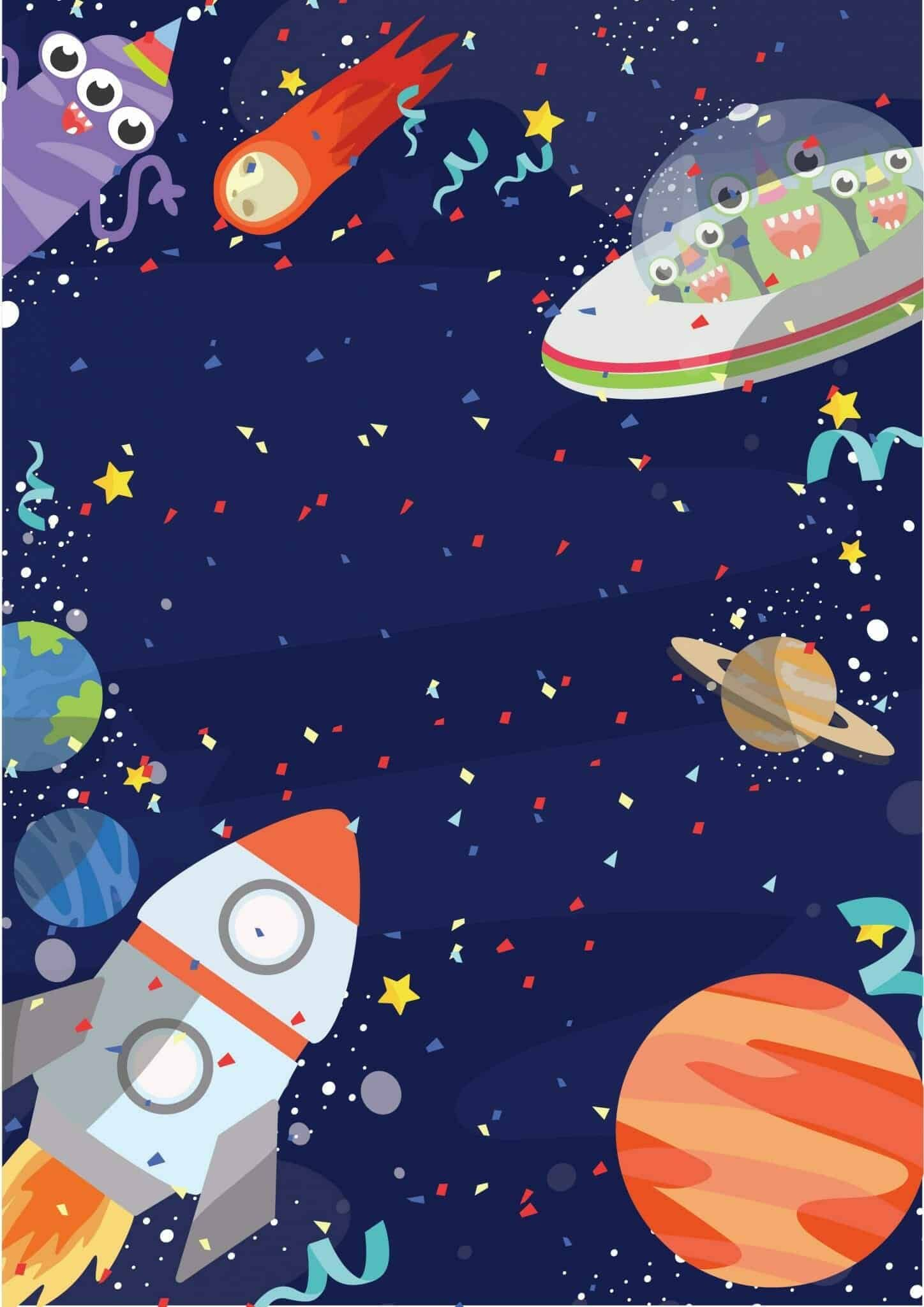 Outer Space Birthday Party | Free Invitations | Pa