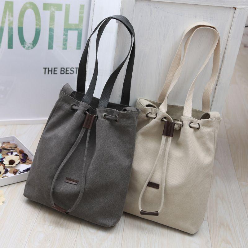 2017 New Female Japanese Korean Canvas Bag Women shoulder Bag Handbag  famous crossbody bag designers bolsas fashion 9b696d581b684