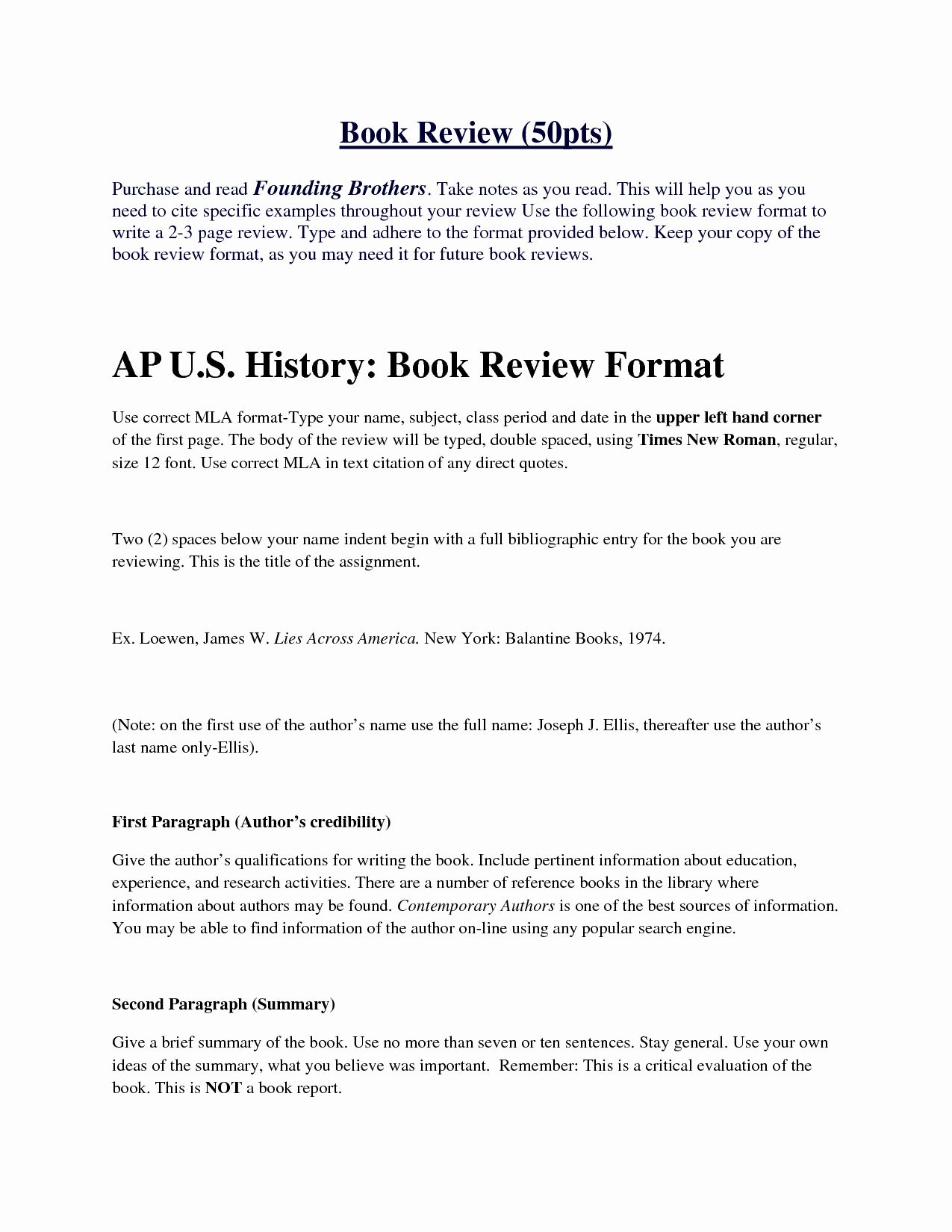 Ap format for book report research paper literary