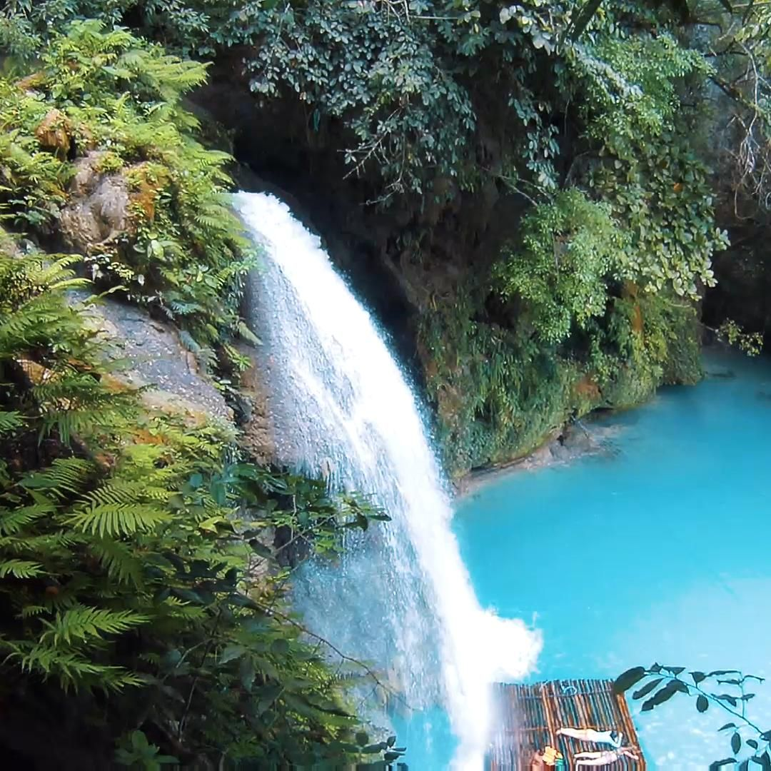 KAWASAN FALLS is a three-tiered waterfall located in Badian, Cebu — and well known for its extremely blue water. Visitors can either hike up to the waterfall directly or book a canyoneering tour to explore the nearby canyons.