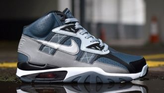 the latest 5936b 0254f  nike-air-trainer-sc-slate-blue-reflective-silver