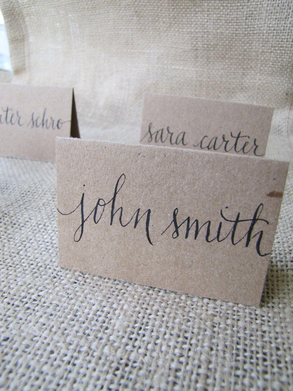 pinkimberly lose on i do  wedding name cards wedding