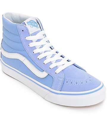e574fd202c20 Vans Sk8 Hi Slim Bel Air Blue   White Shoes (Womens)