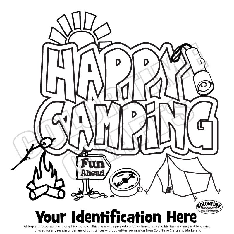 Girl Scout camping Coloring Pages | Happy Camping | Girl Scouts ...