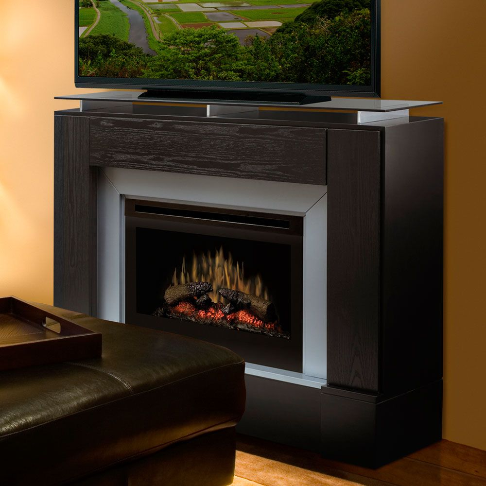 Dimplex Jasper black TV media electric fireplace w 25 firebox remote  warranty - Dimplex Jasper Black Electric Fireplace Media Console Traditional