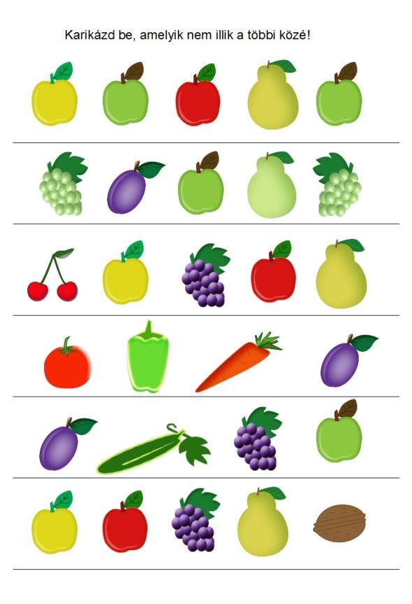 Zöldséges játékok óvodásoknak