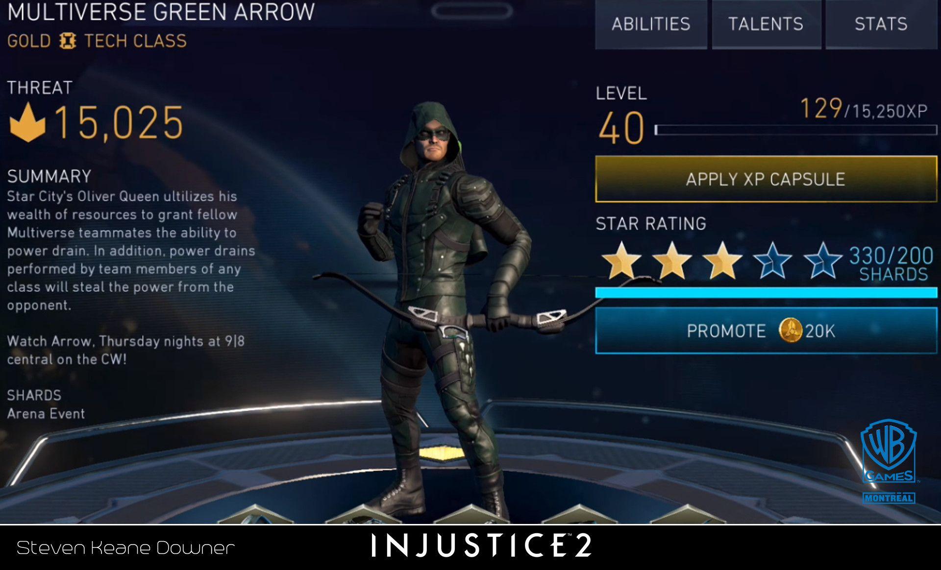 Artstation Injustice 2 Mobile Cw Arrow Skin Steven Downer Injustice Star City Injustice 2