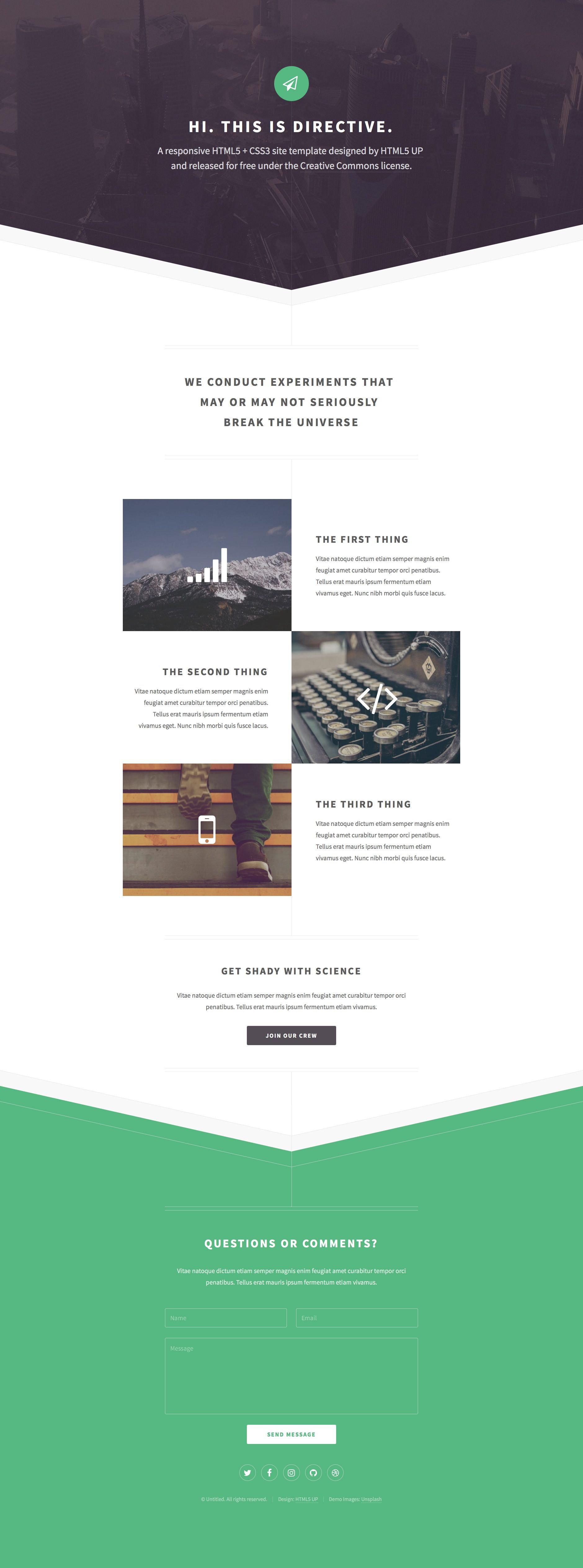 Directive is a free responsive HTML5 Bootstrap landing page website ...