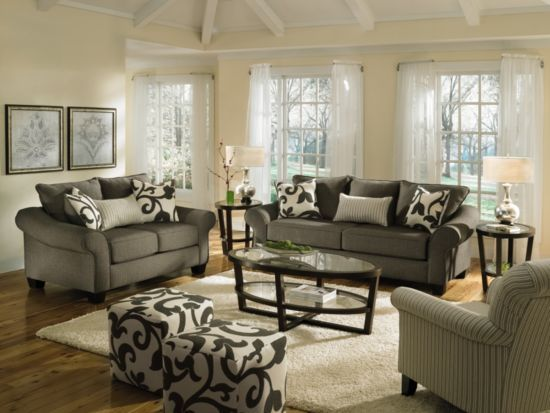 Fine Colette Grey 2 Pc Sofa Loveseat Package Value City Creativecarmelina Interior Chair Design Creativecarmelinacom