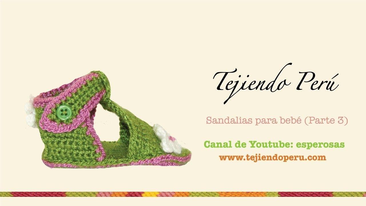 Sandalias para bebe tejidas a crochet (Parte 3: tejiendo el empeine ...