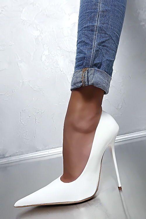 457080e171168a 1969 ITALY LEDER Hohe Damen Sexy High Heels D66 Pumps Weiß Schuhe Best  Leather