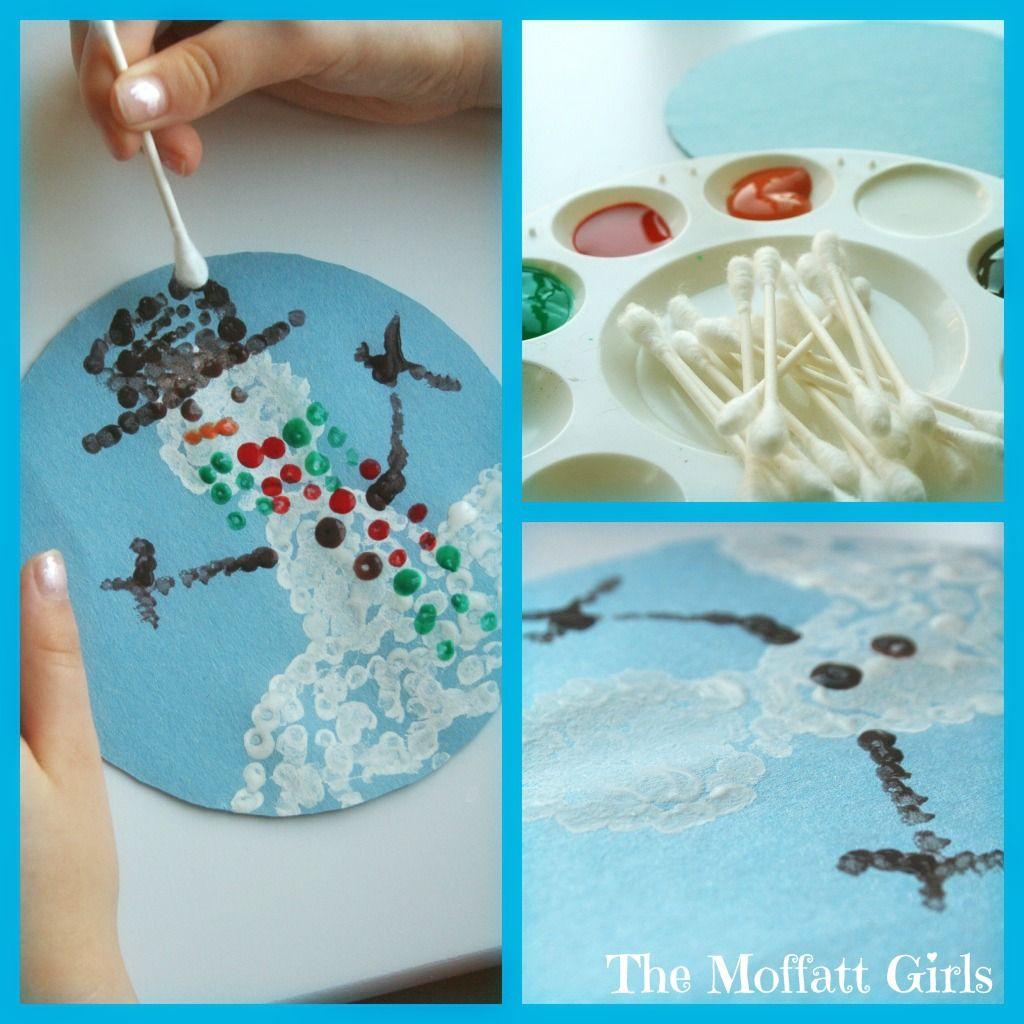 Q-tip Snowman!