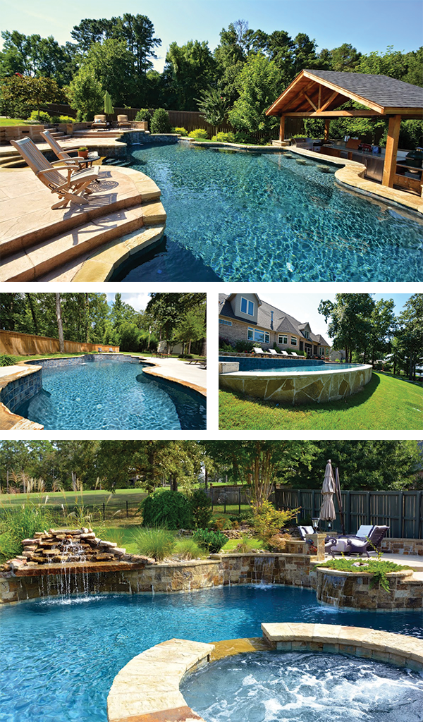 Yard slope may change the design of your swimming pool for Pool design for sloped yard