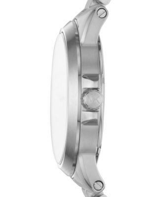 Michael Kors Men's Chronograph Brecken Stainless Steel Bracelet Watch 44mm MK8562 - Silver