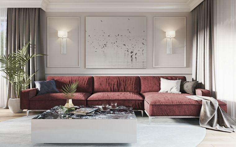 Quadri moderni per arredamento soggiorno in abbinamento ad un divano ...