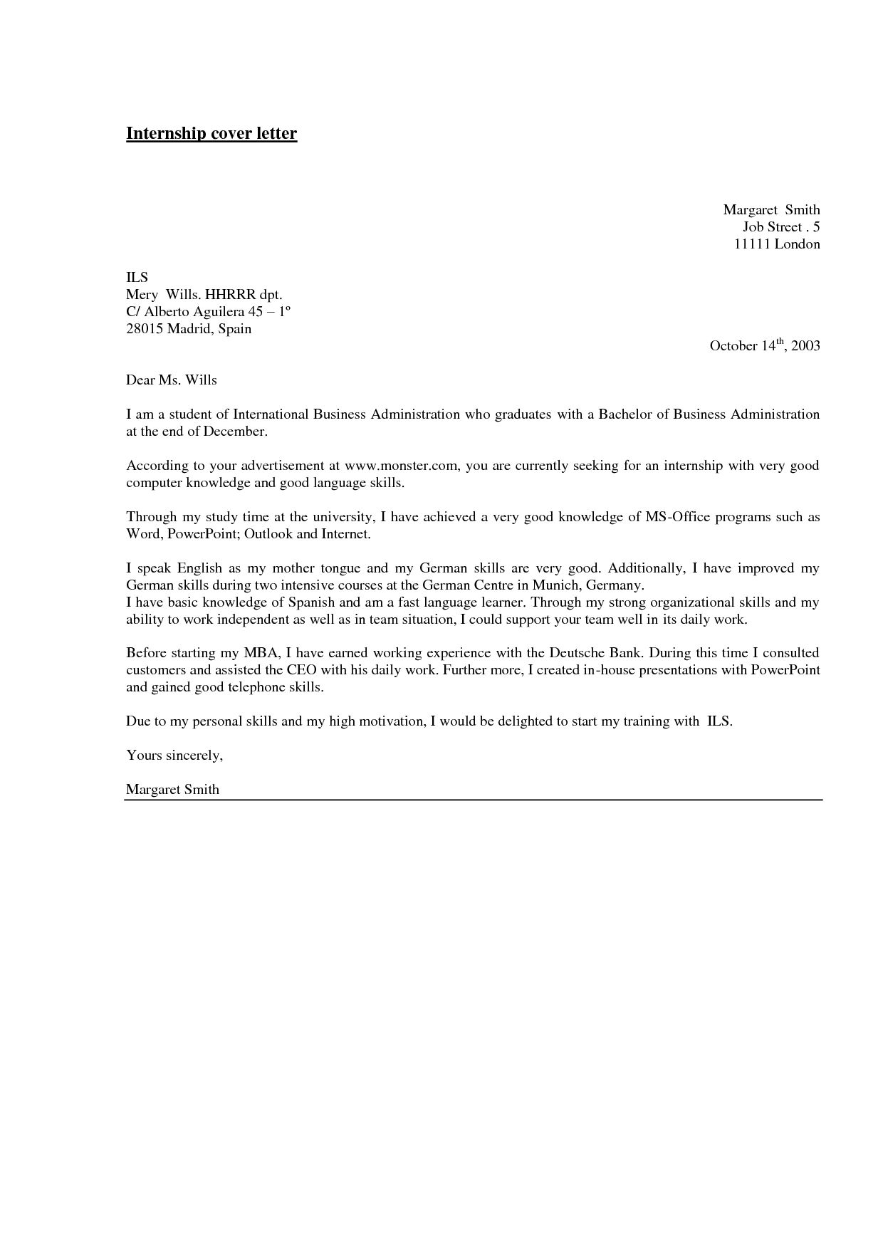 work experience cover letter example corrugator supervisor science ...