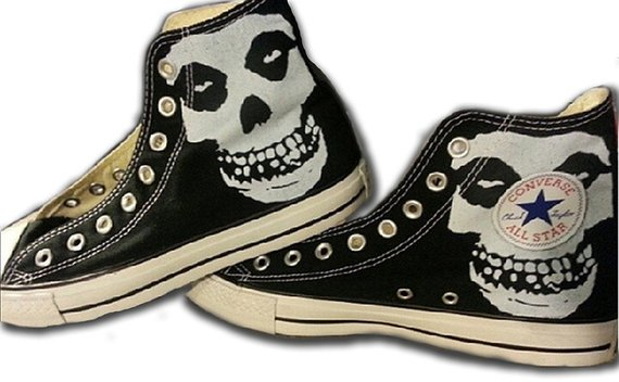 efc1118cb902 The Misfits Custom Converse All Stars in 2019