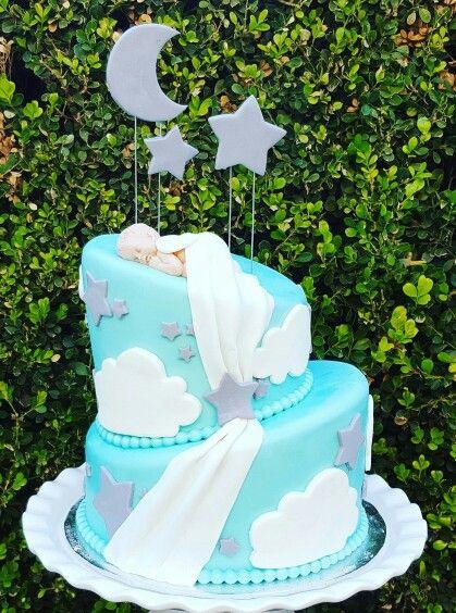 Sent From Heaven Baby Shower Cake Baby Shower Pinterest Baby