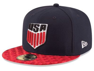 Usa Us Soccer Visor Checked 59fifty Cap New Era Cap Fitted Hats Us Soccer