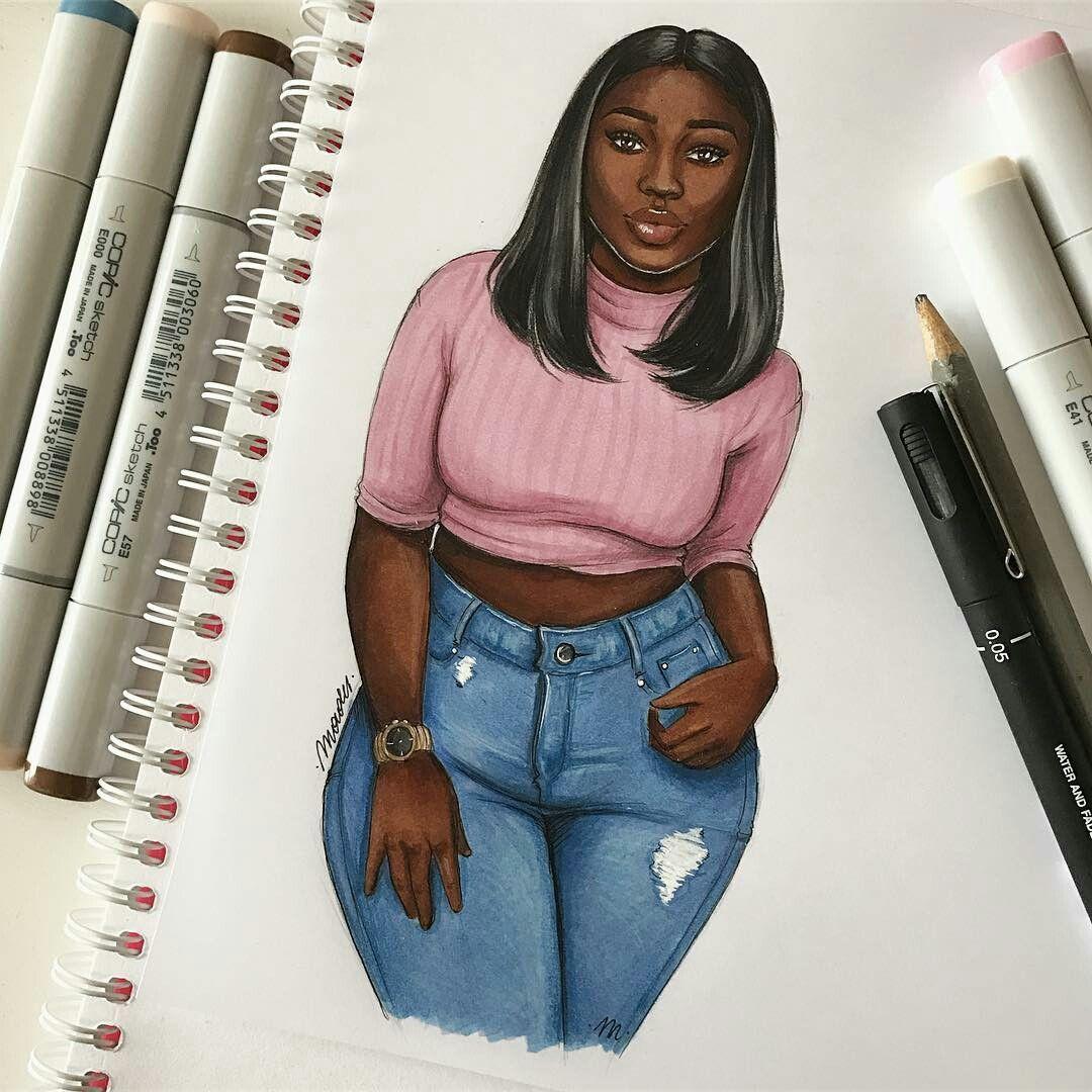 Black Dope Fashion Girl: Black Girl Art, Black Women Art