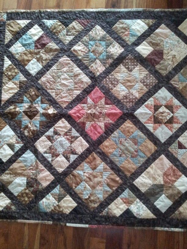 My star patchwork quilt handquilted