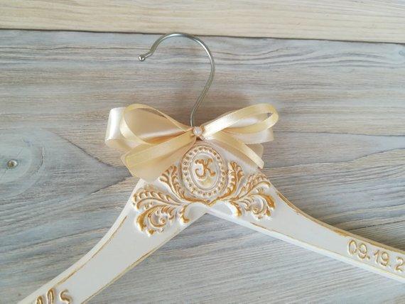 Bridal Dress Hanger With Name Bride Hanger Personalized Shabby Chic Hanger Custom Bridal Hanger Ivo Custom Bridal Hanger Bride Hanger Personalized Bride Hanger