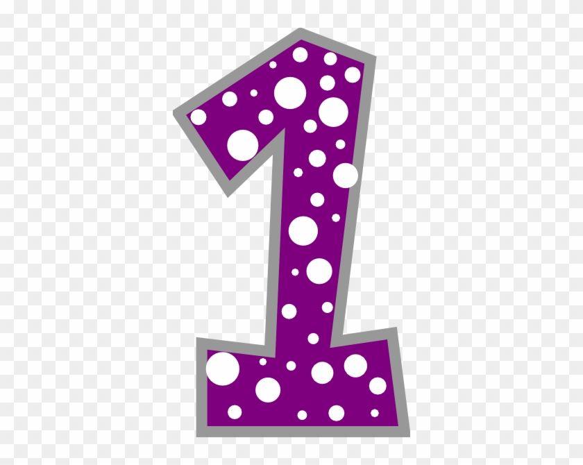 Number 1 Purple And Grey Polkadot Clip Art Polka Dot Number 1 4288 Clip Art Polka Dots Dots