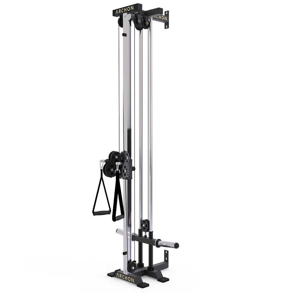 Amazon Com Archon Wall Mount Ball Bearing Cable Station Sports Outdoors Cable Crossover Machine Home Gym Home Gym Equipment
