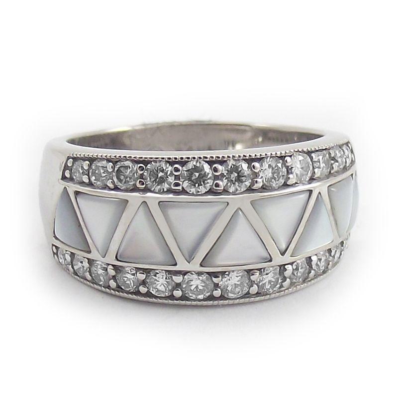 pearl wedding rings white gold