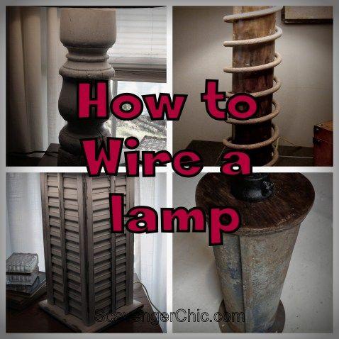 How to wire a lamp, rewiring a lamp, make a lamp kit, diy lighting, diy lamp, lamp rewiring
