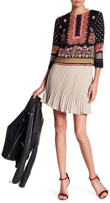 Nicole Miller Pleated Mini Skirt