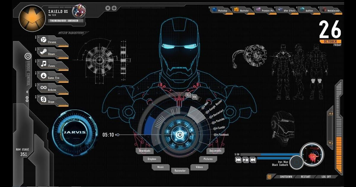 Wow 20 Wallpaper Keren Untuk Windows 10 How To Install The Jarvis Iron Man The Install Iron Jarvis Ke Iron Man Wallpaper Wallpaper Keren Iron Man Theme
