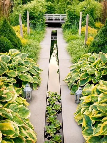 long narrow space and no room for a water feature think again landscape designgarden