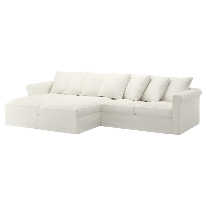 Gronlid Sectional 4 Seat With Chaise Inseros White Ikea Sectional Modular Sectional Sofa Ikea Sofa