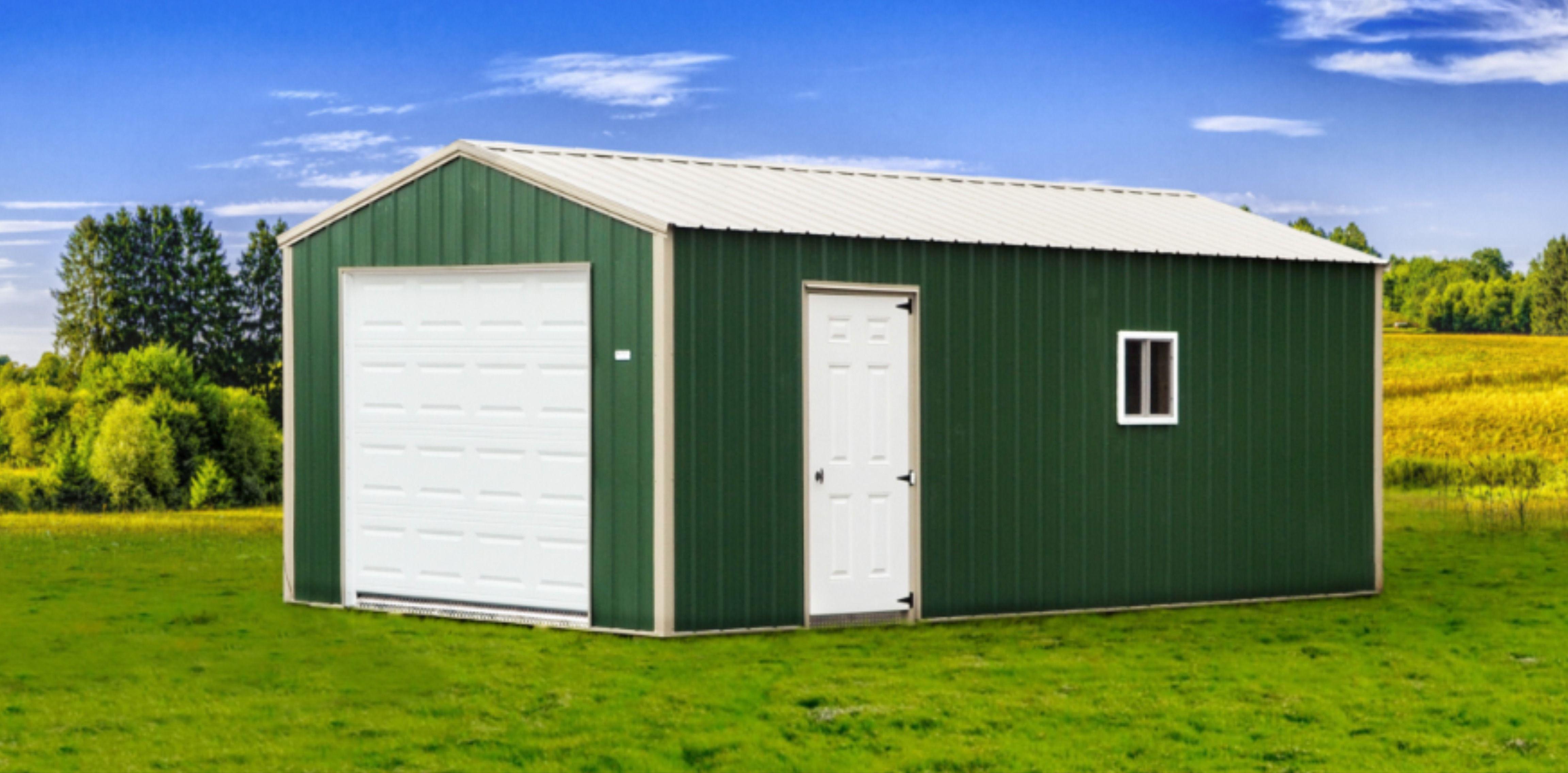 Garage In 2020 Built In Storage Portable Storage Buildings Portable Garage
