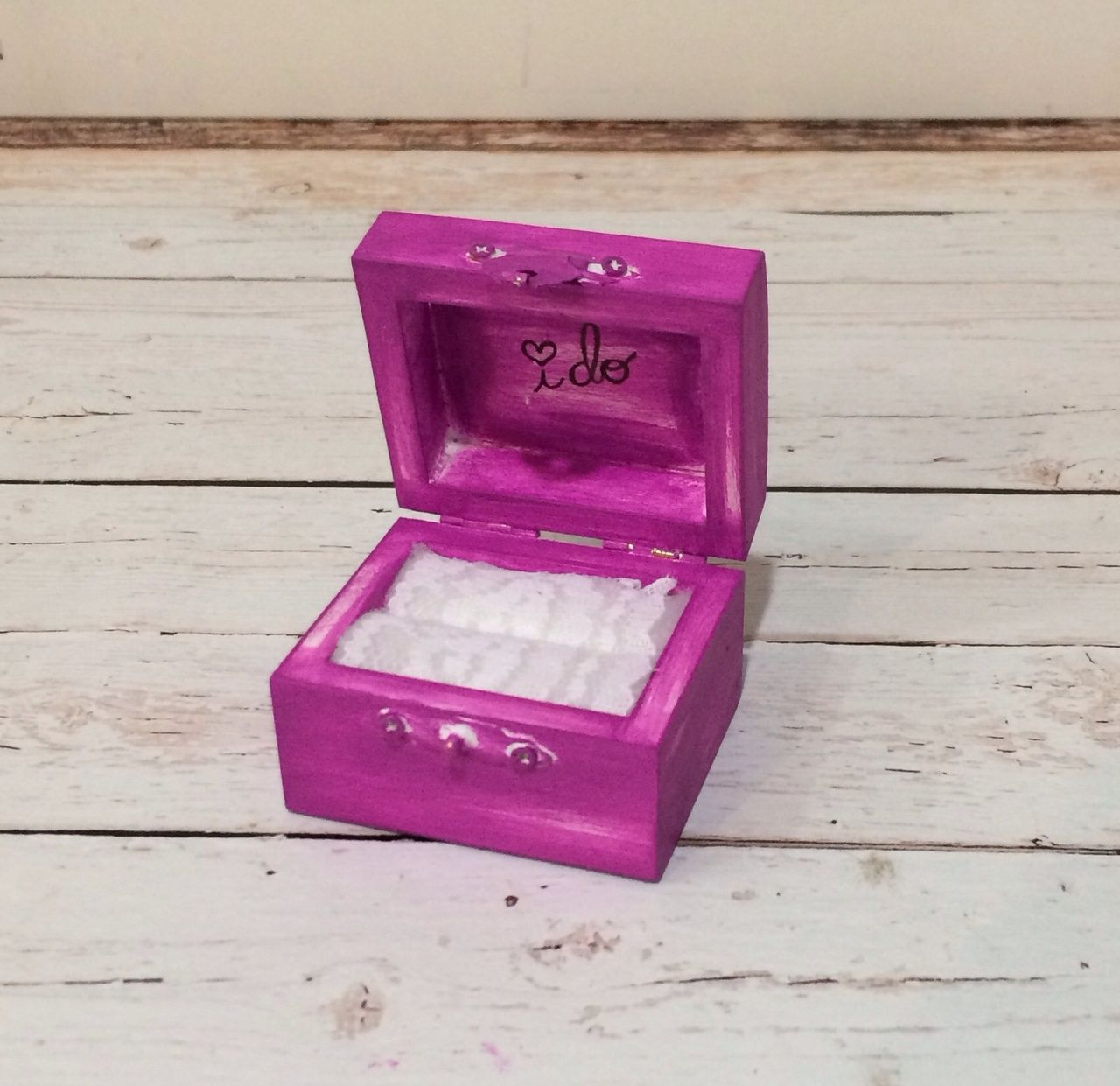 Vintage chic I DO ring bearer box - #19 Vivid Violet - The Wedding ...