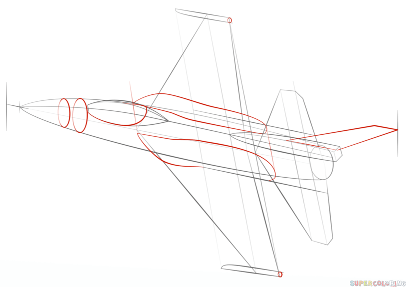 how to draw a fighter jet step by step drawing tutorials