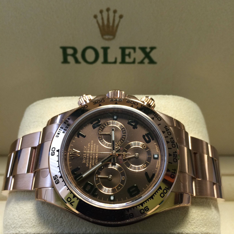 The Rose Gold Rolex Daytona with Chocolate dial http://www.globalwatchshop.co.uk/rolex-daytona-rose-gold-116505-chocolate-dial.html?utm_content=buffer8b3c7&utm_medium=social&utm_source=pinterest.com&utm_campaign=buffer Click for Details #Available
