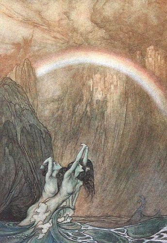 Arthur Rackham El Anillo De Los Nibelungos Ilustración De Fantasía Ilustraciones Para Cuentos De Hadas Arthur Rackham
