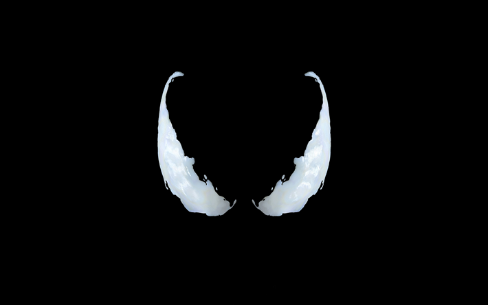 Download Wallpapers Venom 4k Logo 2018 Movie Black