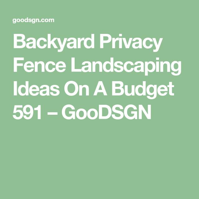 Gardening Ideas On A Budget: Backyard Privacy Fence Landscaping Ideas On A Budget 591