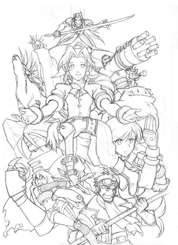 Coloring Page Final Fantasy Video Games 2 Printable Coloring Pages Final Fantasy Tattoo Final Fantasy Art Final Fantasy