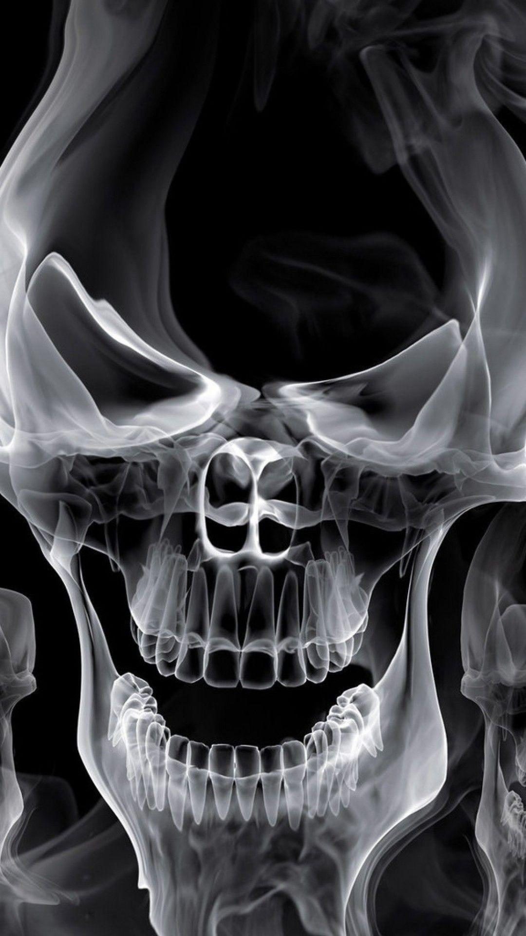White Skeleton Ghost Wallpaper